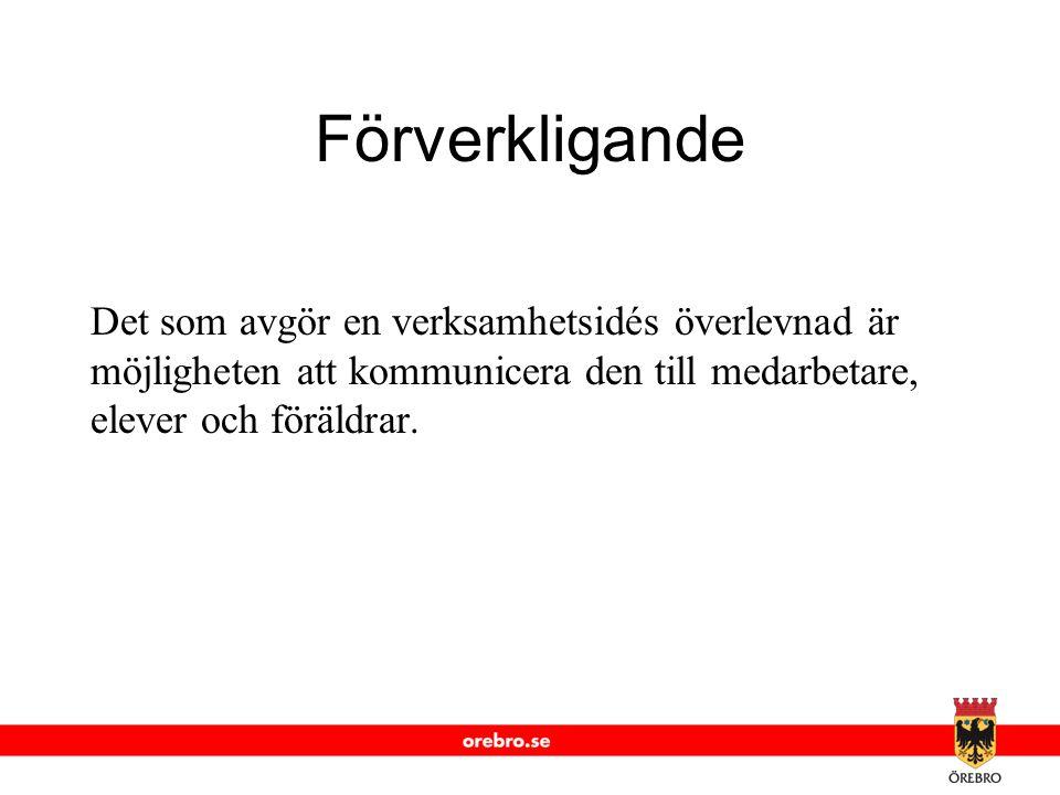 www.orebro.se 1 Verksamhetsidé som Varumärke Kännetecknas av ett externt attitydfokus som syftar till konkurrensstärkning.