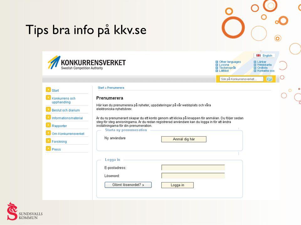 Tips bra info på kkv.se