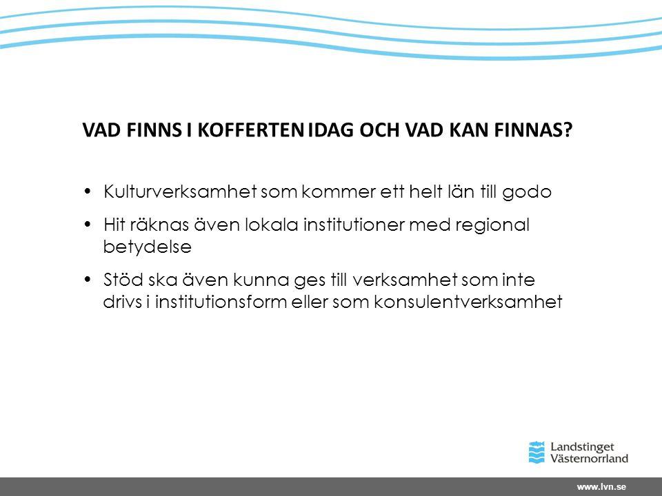 www.lvn.se VAD FINNS I KOFFERTEN IDAG OCH VAD KAN FINNAS.