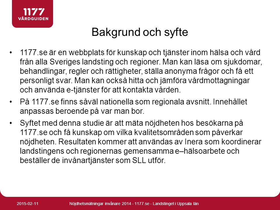 1177.se är en webbplats för kunskap och tjänster inom hälsa och vård från alla Sveriges landsting och regioner. Man kan läsa om sjukdomar, behandlinga