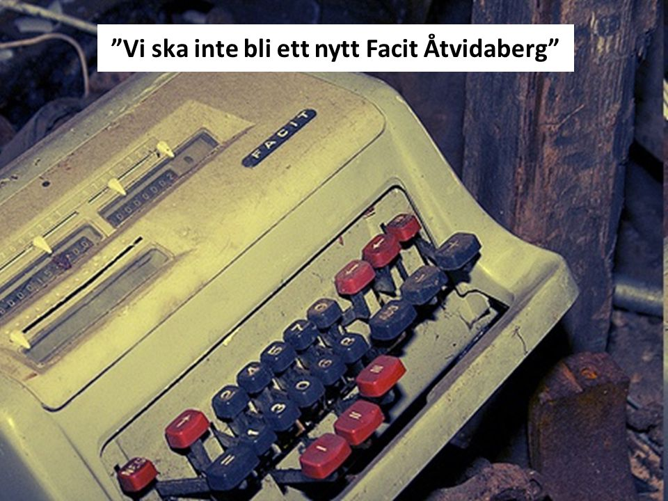 """""""Vi ska inte bli ett nytt Facit Åtvidaberg"""""""