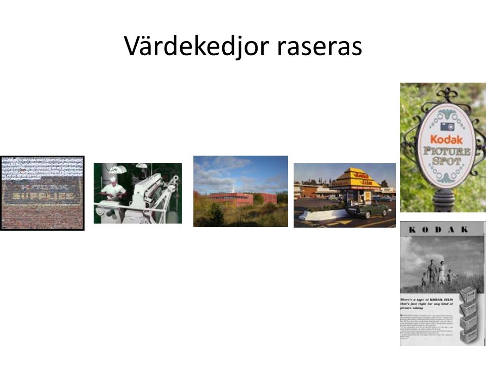 The camera industry: a perfect illustration Värdekedjor raseras