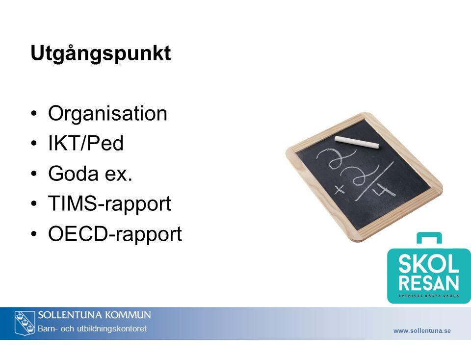 www.sollentuna.se Barn- och utbildningskontoret Lokala behov Lokala ämnescenter Skolor med lägre resultat Resursfördelning Stödja kollegialt arbete Process Ped.