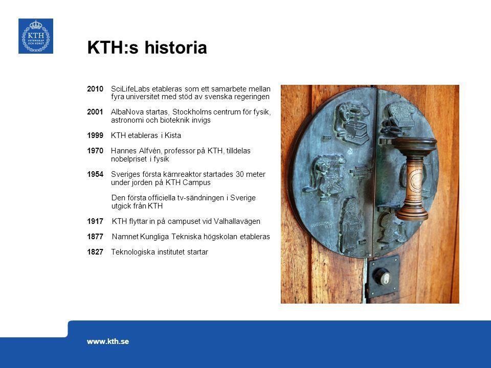 2010 SciLifeLabs etableras som ett samarbete mellan fyra universitet med stöd av svenska regeringen 2001 AlbaNova startas, Stockholms centrum för fysi