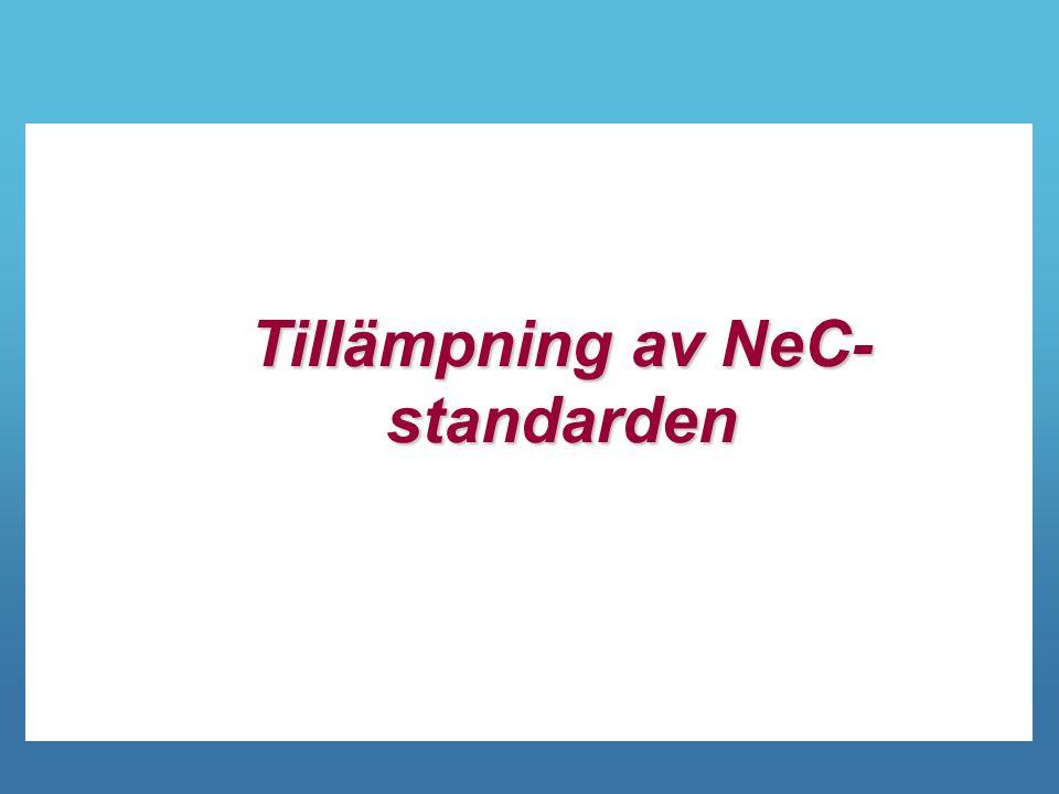 Tillämpning av NeC- standarden
