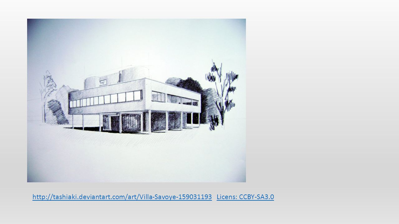 http://tashiaki.deviantart.com/art/Villa-Savoye-159031193http://tashiaki.deviantart.com/art/Villa-Savoye-159031193 Licens: CCBY-SA3.0Licens: CCBY-SA3.0