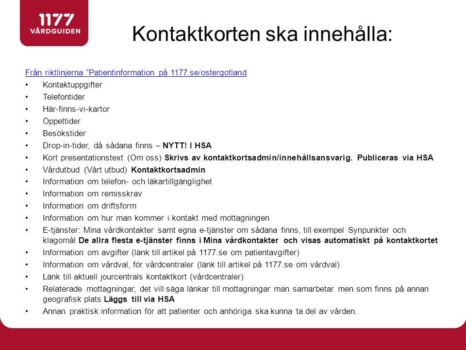 Processen: Synpunkt  Hantering 1.Ärendet inkommer direkt från 1177.se och hamnar i vardsok@lio.se.