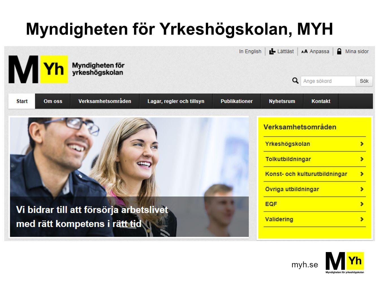 myh.se Myndigheten för Yrkeshögskolan, MYH