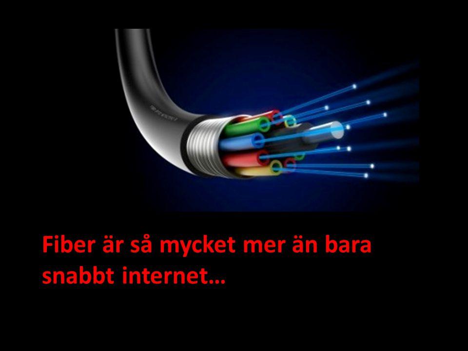 Fiber är så mycket mer än bara snabbt internet…