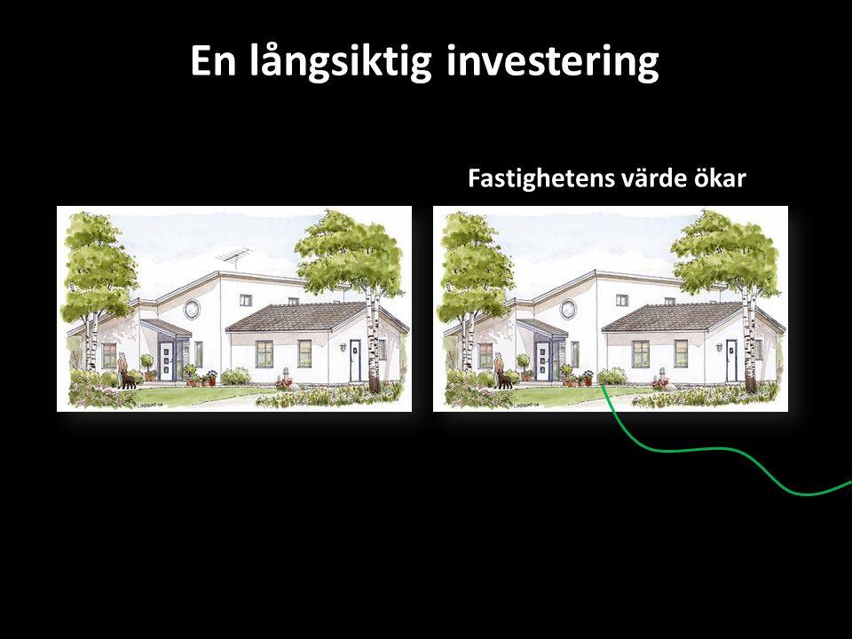Fastighetens värde ökar En långsiktig investering