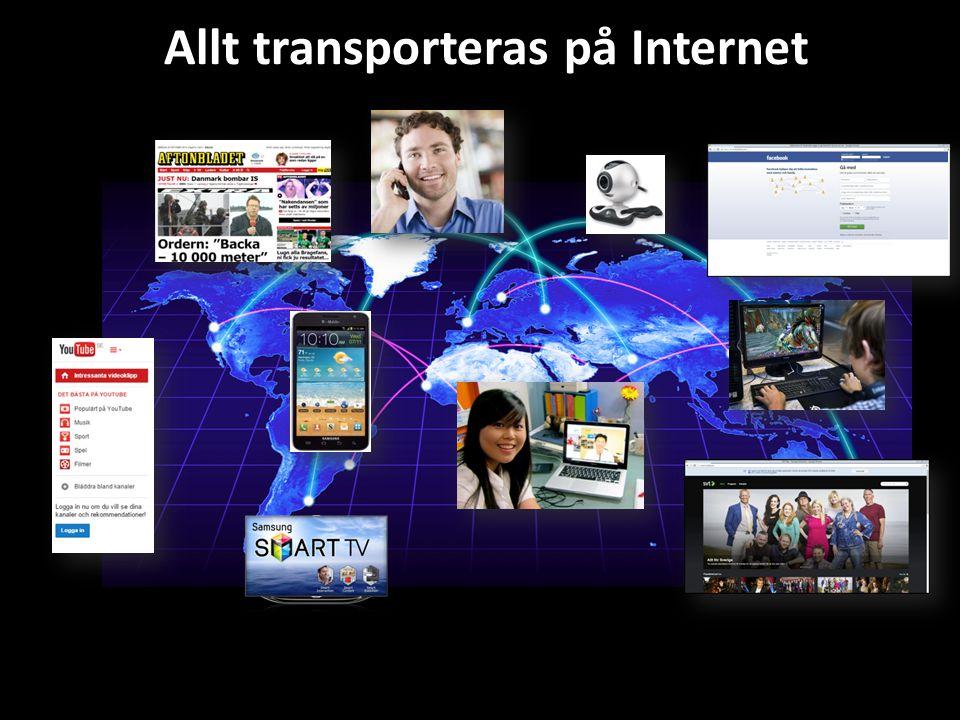 Allt transporteras på Internet