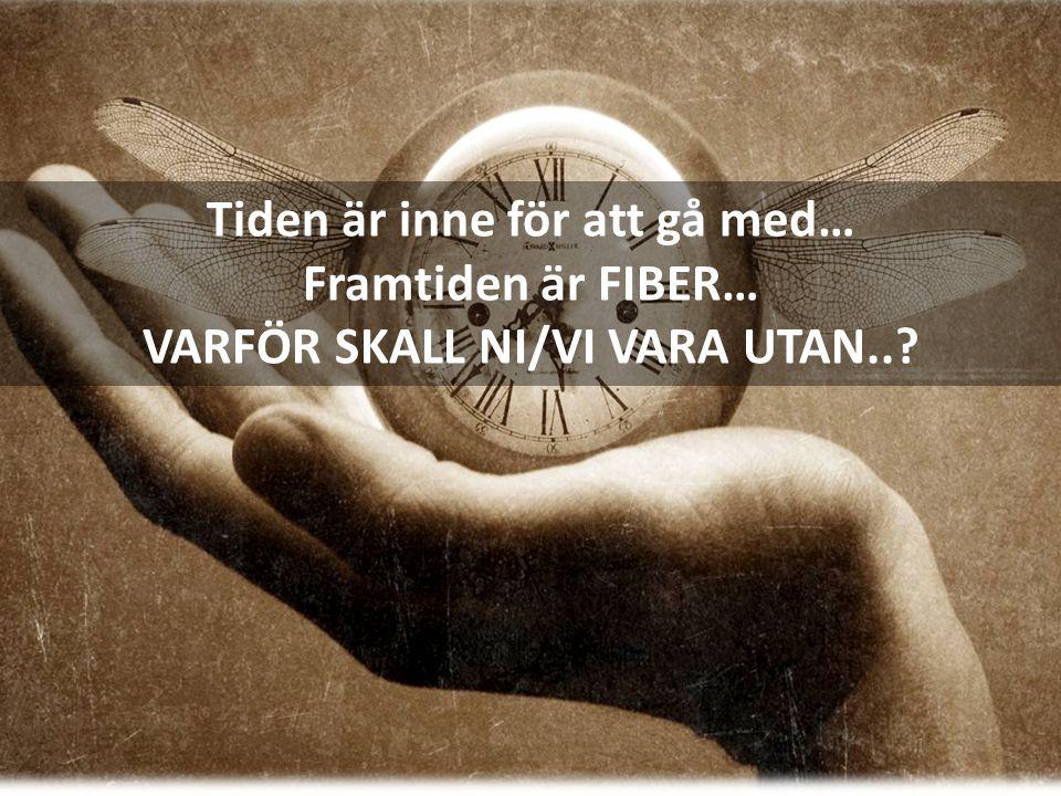Tiden är inne för att gå med… Framtiden är FIBER… VARFÖR SKALL NI/VI VARA UTAN..?
