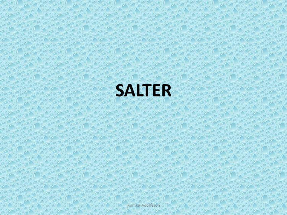 Salter Salter är en grupp av ämnen.De består av joner.