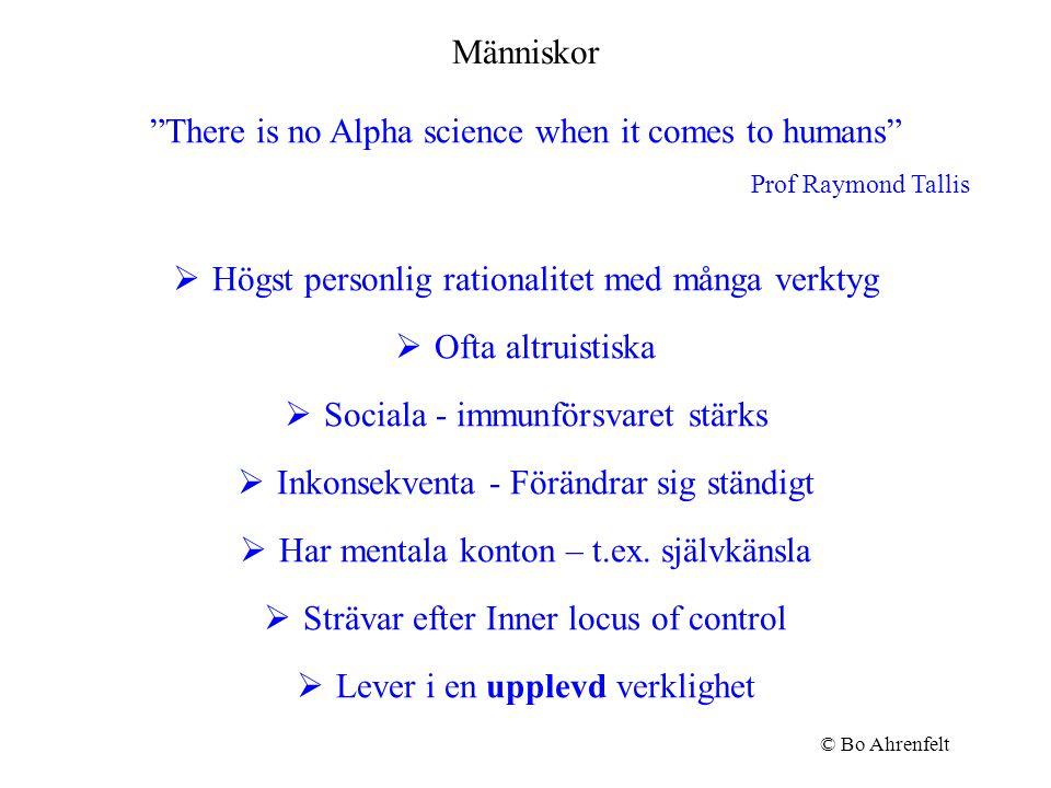 Förändring av 2:a ordningen Bryta egna tankemönster Tillåta öppningar i vårt mentala svängrum © Bo Ahrenfelt