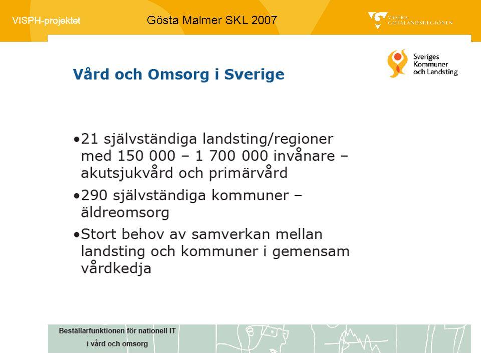 VISPH-projektet Gösta Malmer SKL 2007