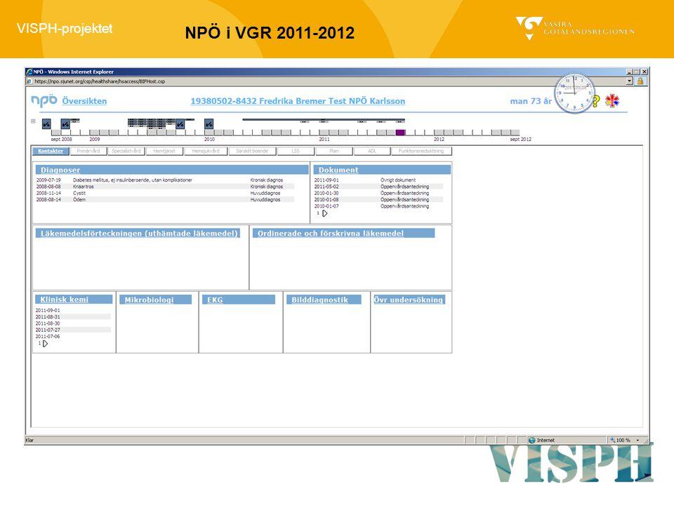 VISPH-projektet NPÖ i VGR 2011-2012
