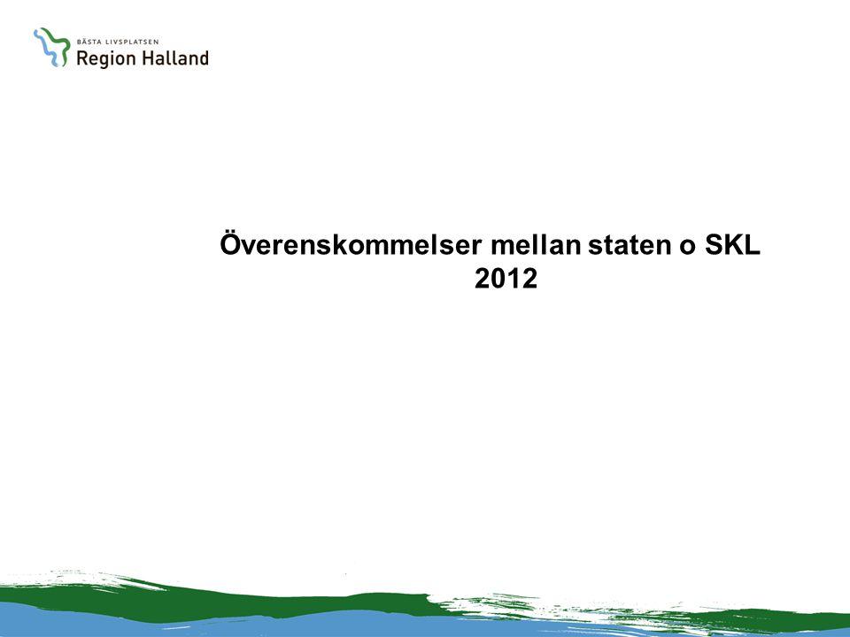Överenskommelser mellan staten o SKL 2012