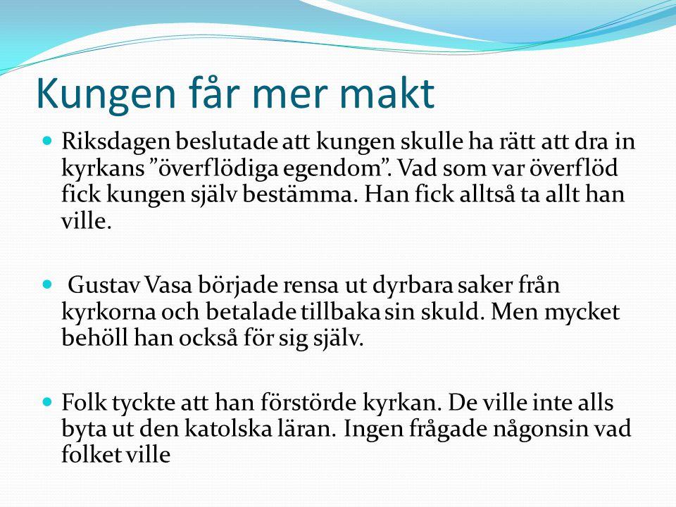 Kyrkan förändrades stegvis Kyrkans predikan hölls på svenska.