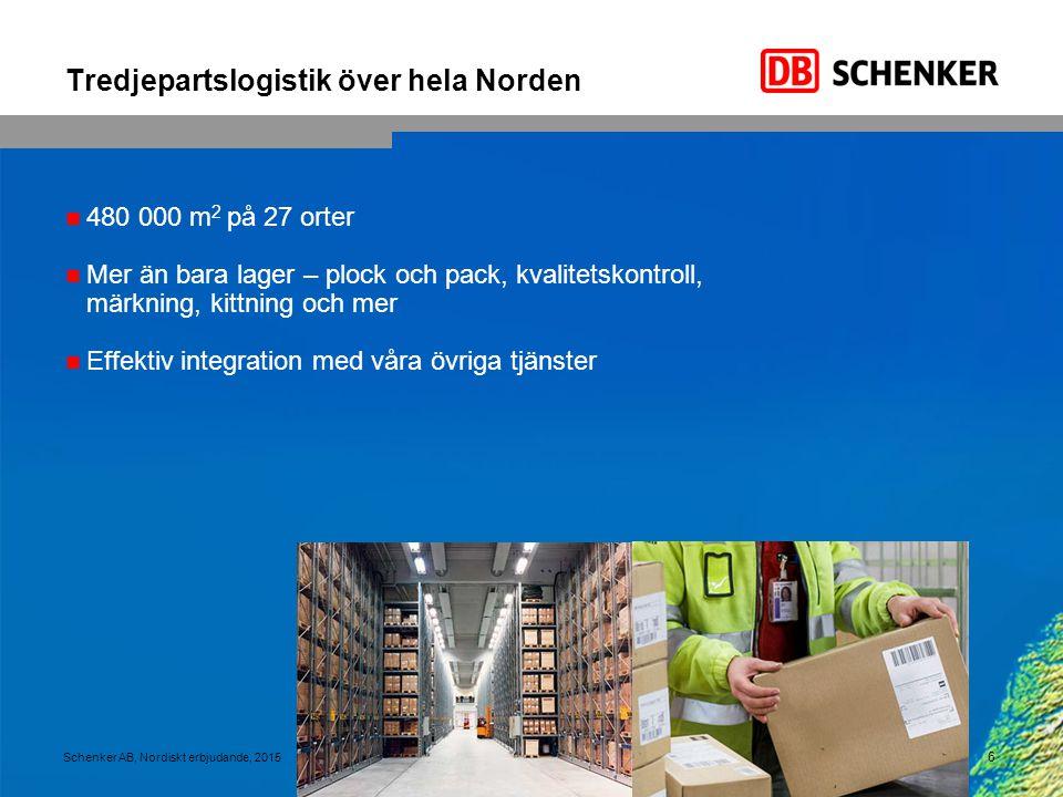 17 Schenker AB, Nordiskt erbjudande, 2015 Transporter från Finland till alla de nordiska länderna RESULTATLösning Problem Transporter från Finland till alla de nordiska länderna.