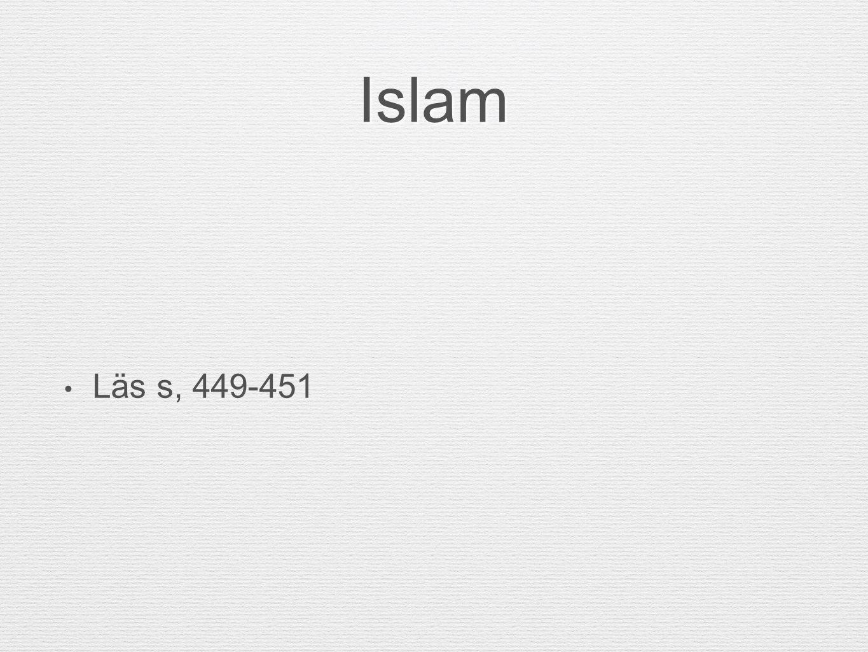 Islam Läs s, 449-451