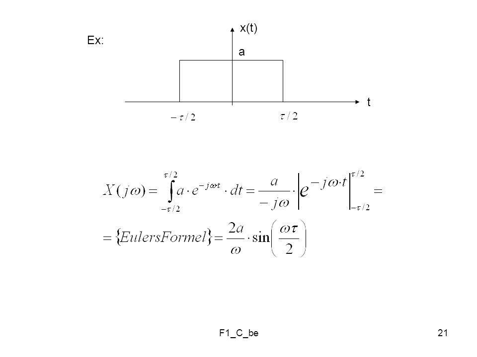 F1_C_be21 Ex: t a x(t)
