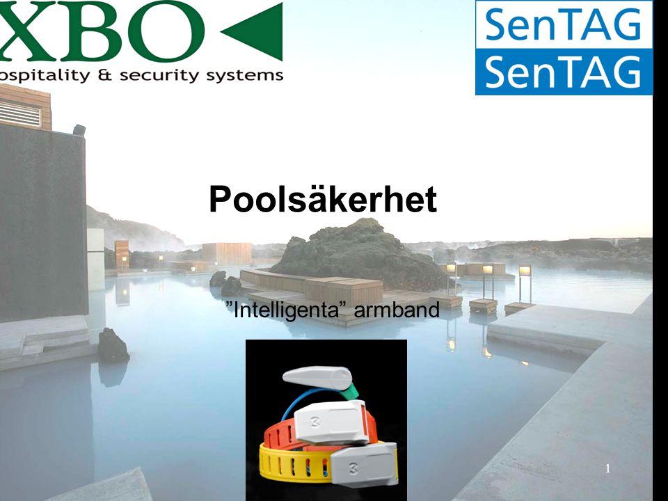 2 SenTAG poolsäkerhetssystem fungerar som ett komplement till badvakter....INTE en ersättning.
