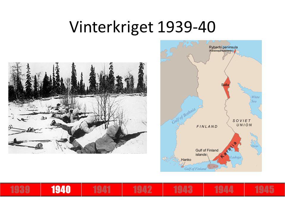 1939194019411942194319441945 Vinterkriget 1939-40