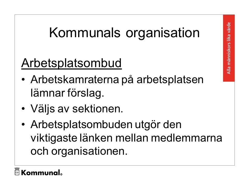 Kommunals organisation Arbetsplatsombud Arbetskamraterna på arbetsplatsen lämnar förslag.