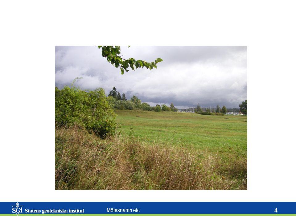 Mötesnamn etc 2525 Besök på platsen Verifikation av de fakta som erhållits via kartor och annat material Inventering av markförhållanden (se sid.
