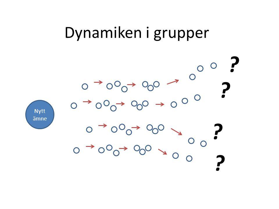 Dynamiken i grupper Nytt ämne ? ? ? ?