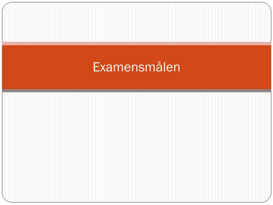 Examensmålen - centrala kunskapsområden och perspektiv.
