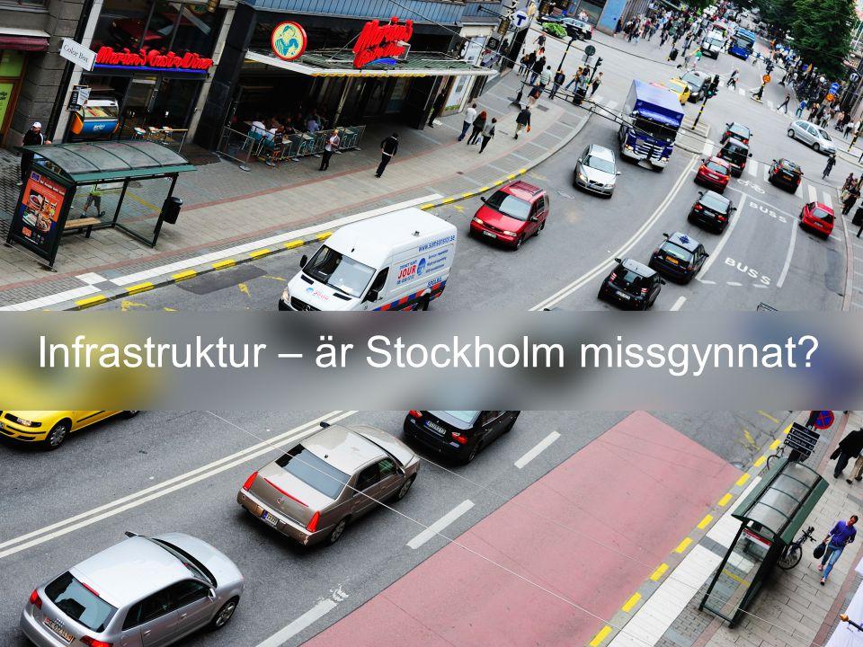 Infrastruktur – är Stockholm missgynnat?
