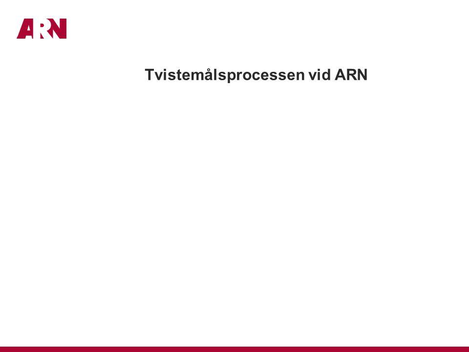 Tvistemålsprocessen vid ARN