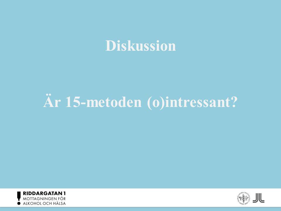 Diskussion Är 15-metoden (o)intressant?