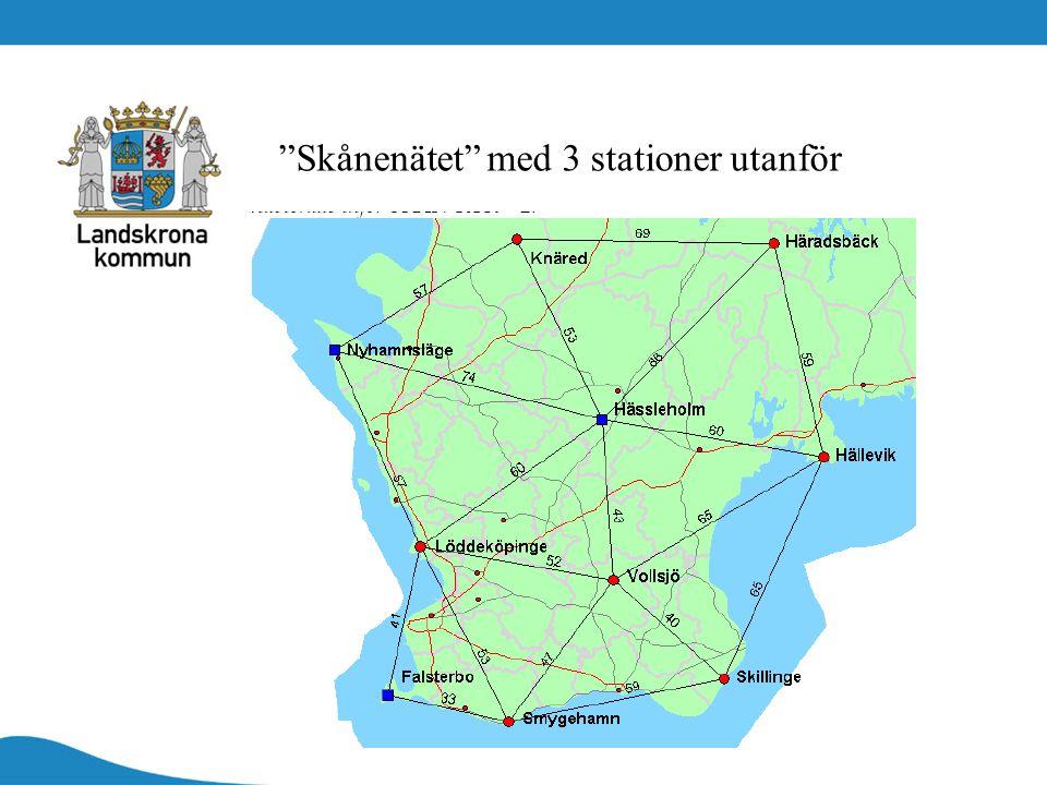 """""""Skånenätet"""" med 3 stationer utanför"""