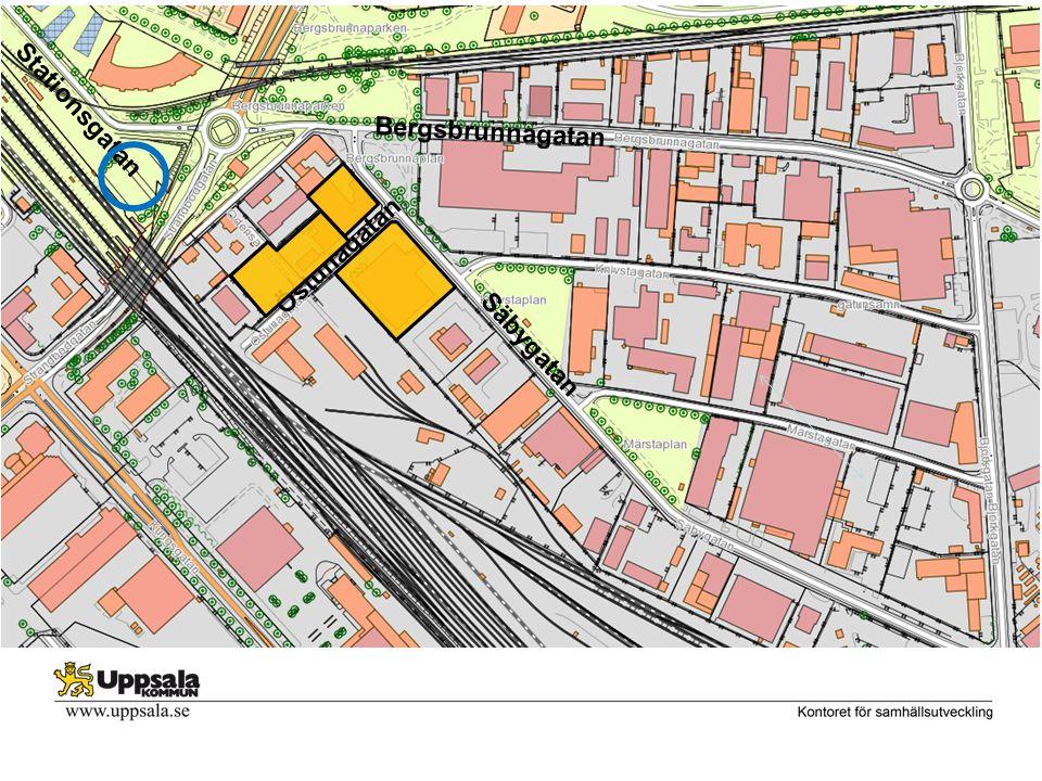 Bergsbrunnagatan Säbygatan Stationsgatan Östunagatan