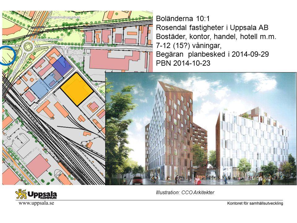 Björkgatan Boländerna 10:1 Rosendal fastigheter i Uppsala AB Bostäder, kontor, handel, hotell m.m.