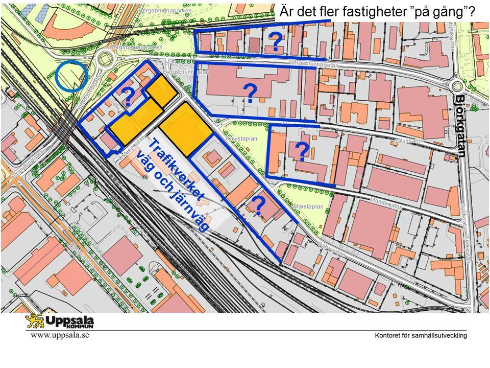 Björkgatan Är det fler fastigheter på gång ? ? ? ? ? ? Trafikverket väg och järnväg