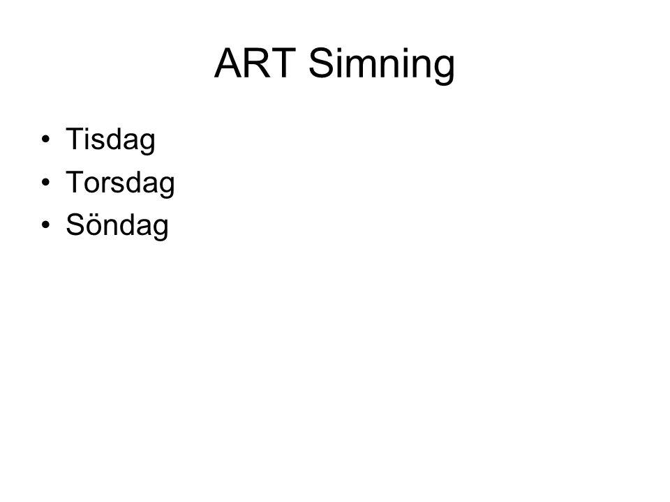 ART Simning Tisdag Torsdag Söndag