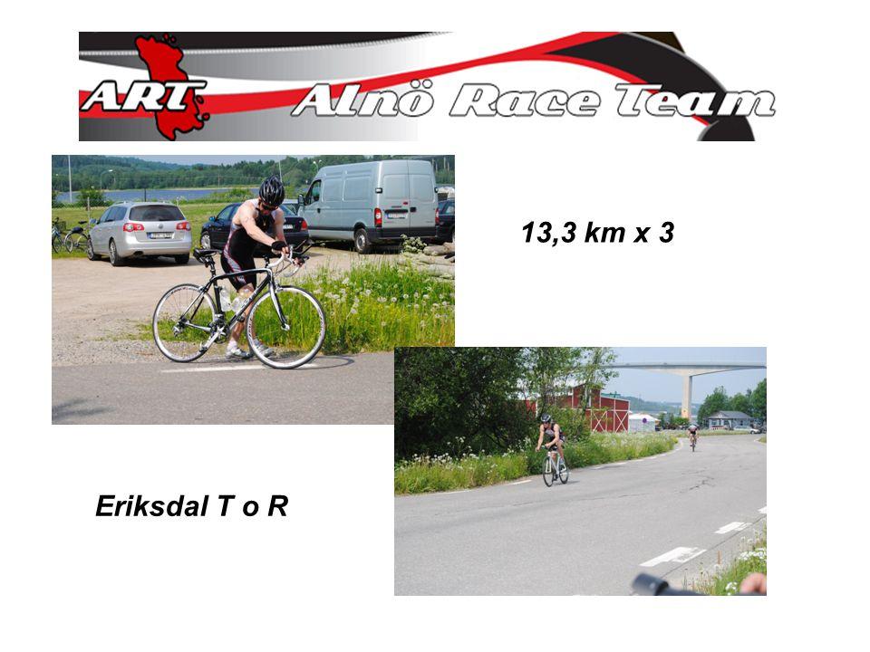 13,3 km x 3 Eriksdal T o R