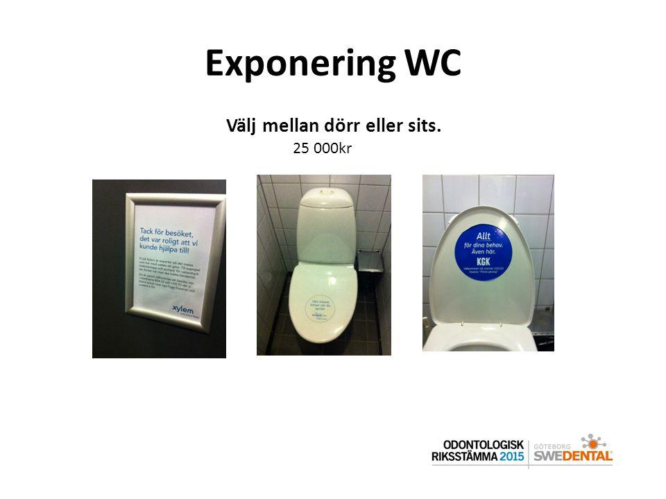 Exponering WC Välj mellan dörr eller sits. 25 000kr