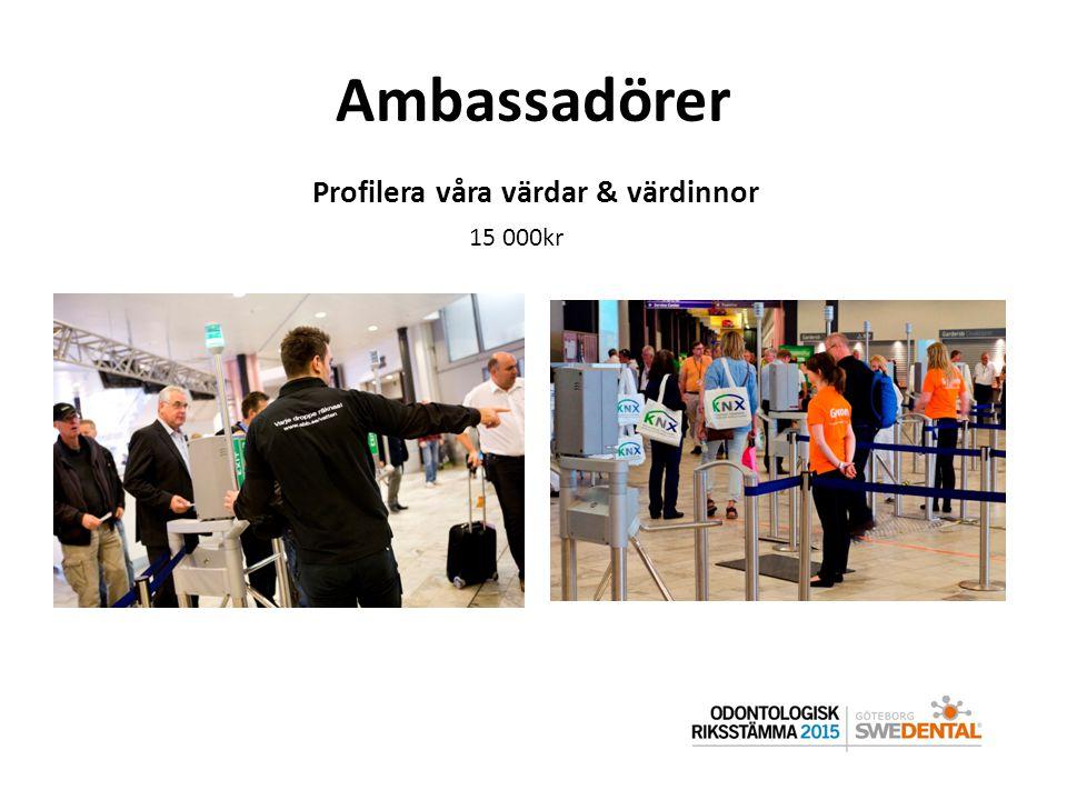 Ambassadörer Profilera våra värdar & värdinnor 15 000kr