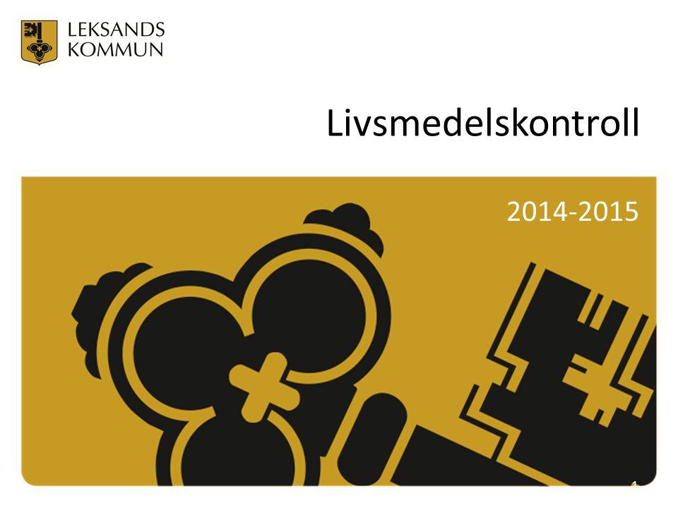 Livsmedelskontroll 2014-2015 1