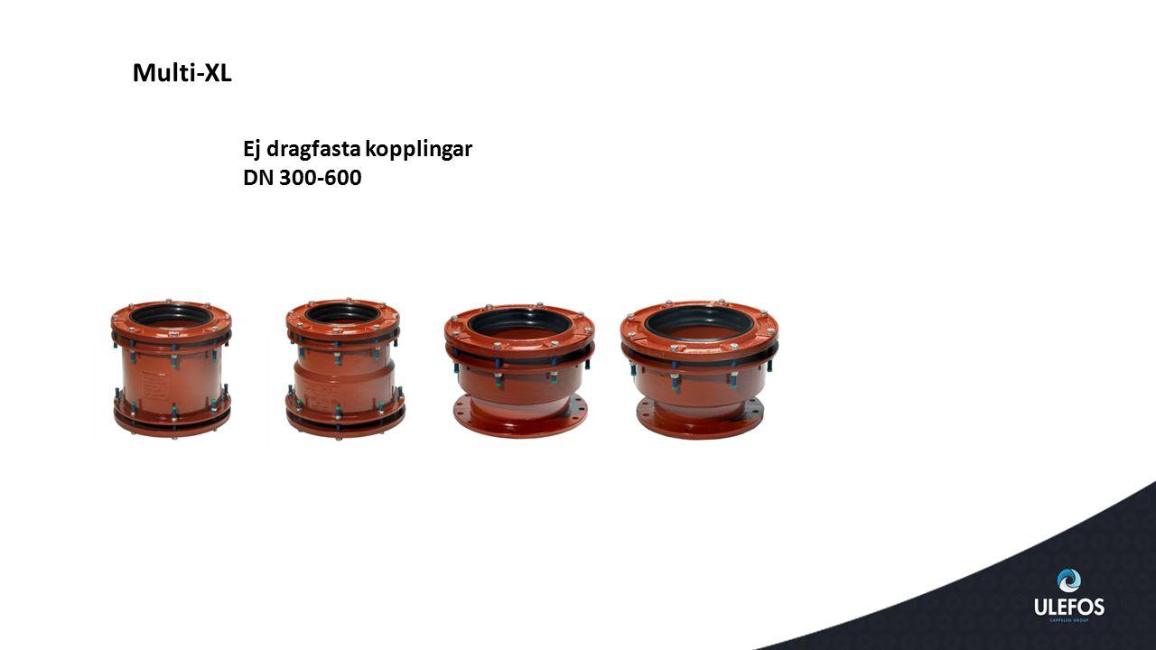 Multi-XL Ej dragfasta kopplingar DN 300-600