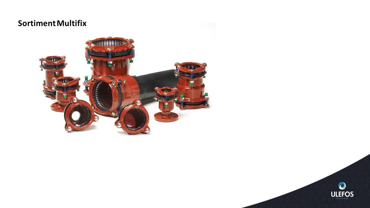  Bultar av rostfritt stål  AISI 304, bultar i A2 kvalitet (X 5CrNi 189), blå: anpassande till DIN 1.4301 och ISO 683/13 11  AISI 304, muttrar, passiverad yta  Teflonbeläggning på bultarna, blå: förhindrar rost och nötning samt skärning mellan bult/mutter Andra tekniska aspekter Multifix