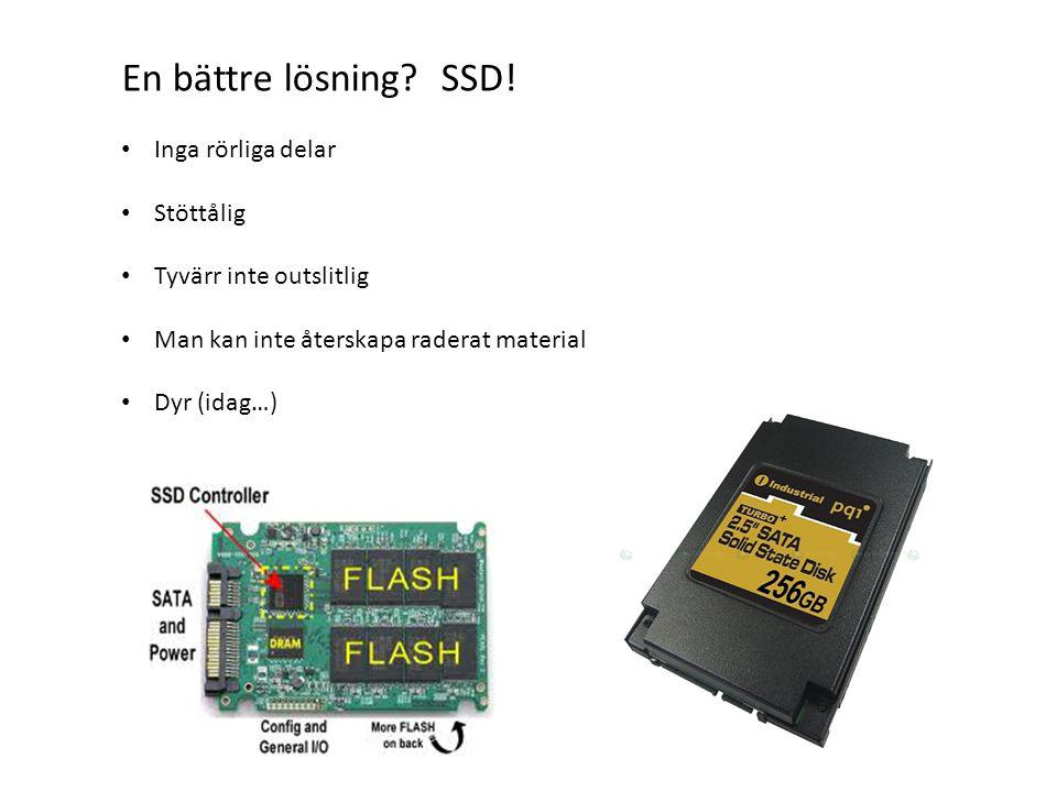 En bättre lösning.SSD.