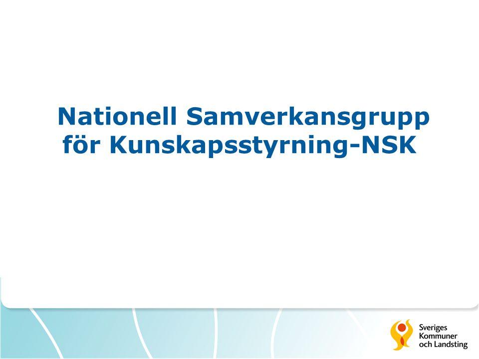 Nationell Samverkansgrupp för Kunskapsstyrning-NSK