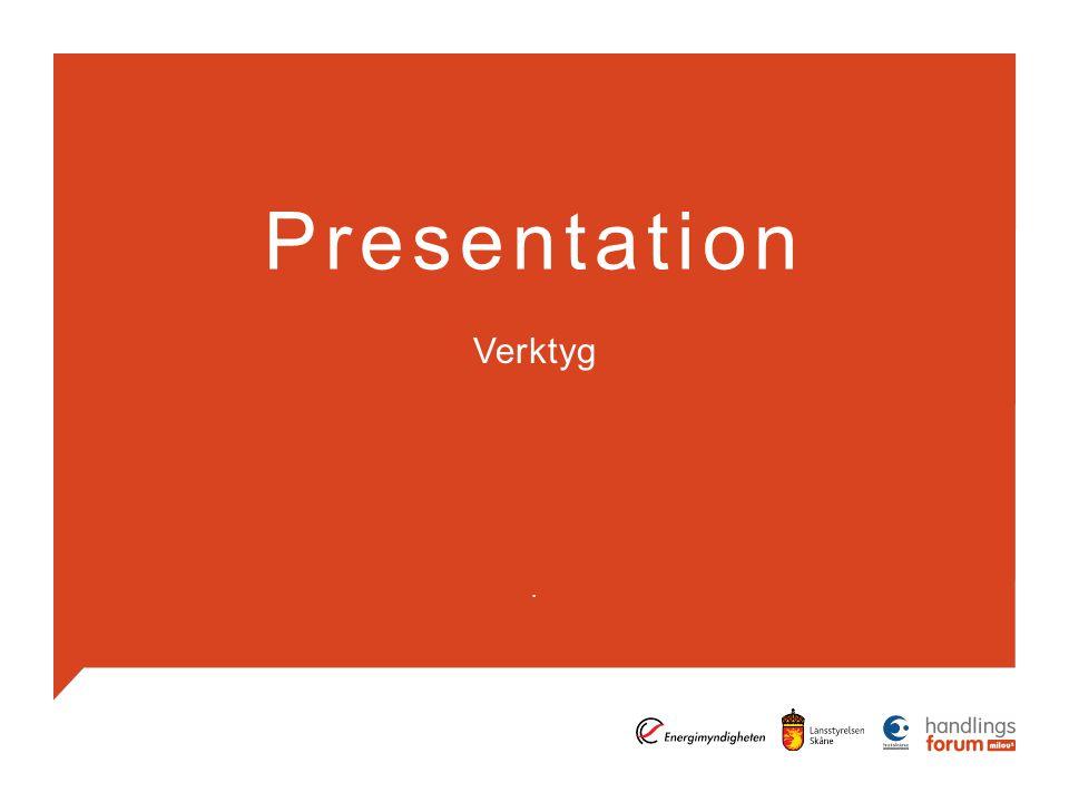 Presentation Verktyg.