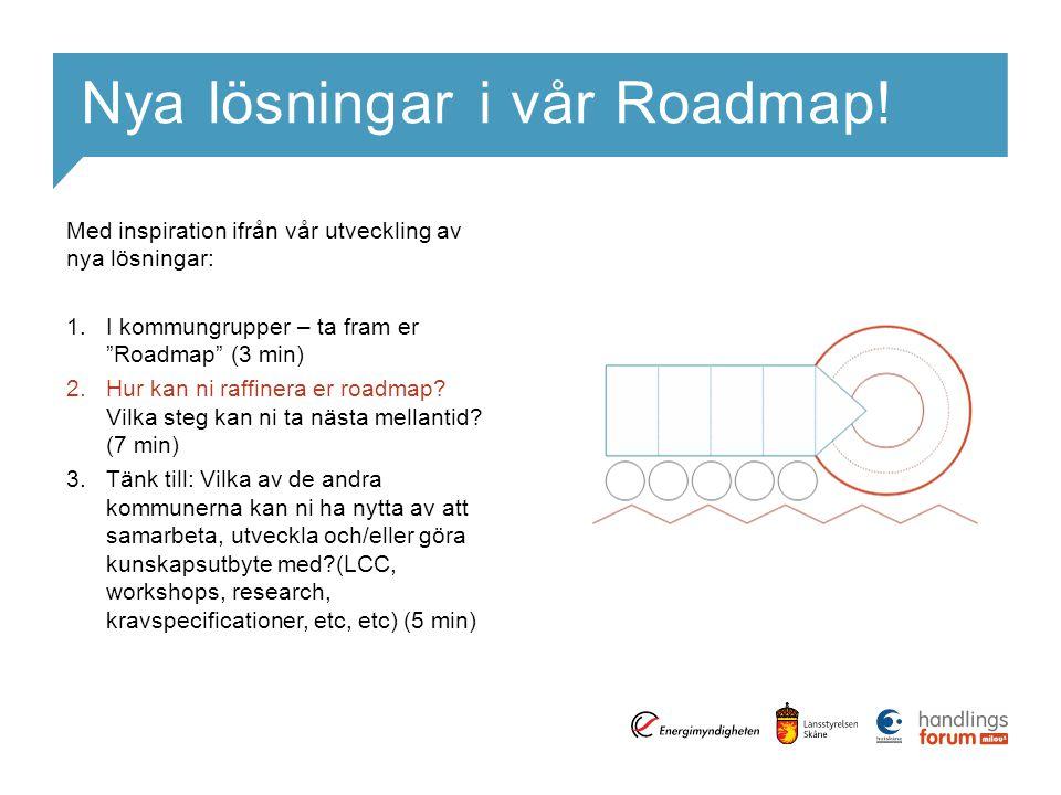 Nya lösningar i vår Roadmap.