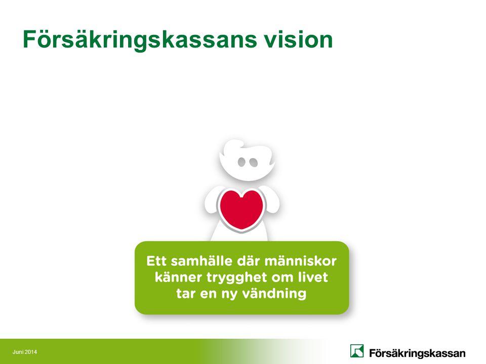 Juni 2014 Försäkringskassans vision